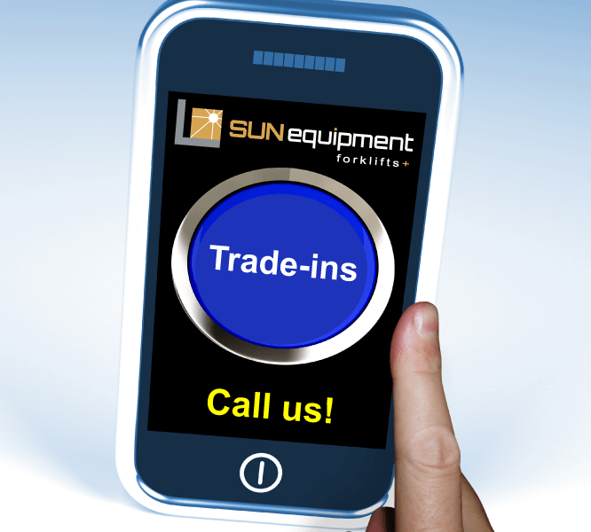 Sun Equipment accepts trade ins.