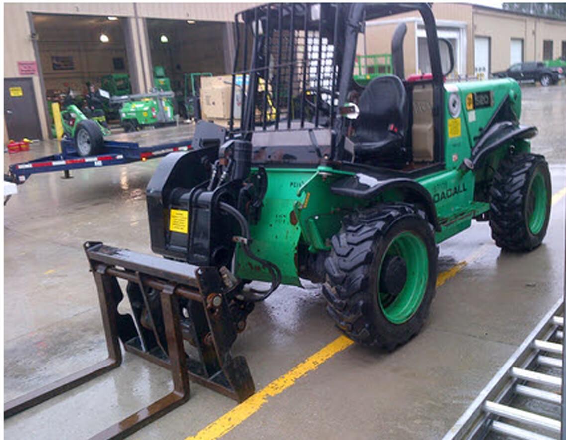 2007 JCB 520-50, Rough Terrain Forklift, Diesel Engine, 4-Wheel Drive, 4-Wheel Steer, Lower Hours, Excellent Condition