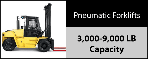 Click to view our inventory of 3,000 - 9,000 LB Pneumatic