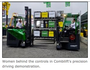 Women and Forklifts Sun Equipment